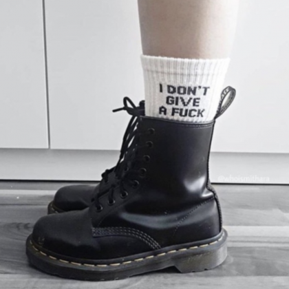 I DONT WANT TO GIVE A F**K SOCKS